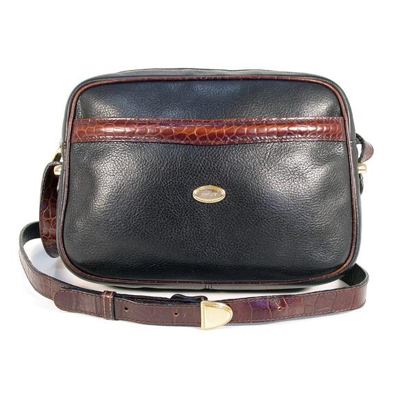 Bally Handbags - BALLY Italy Vintage Leather Crossbody Bag